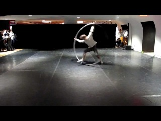 Awesome ring dancing guy (cyr wheel) - Montréal Nuit Blanche 2012
