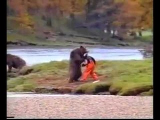 Human vs Bear! Old John West Salmon Commercial Very Funny!