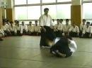 演武会(1998年頃)での竹森康彦先生(受けは生方さん)と清水&#12373