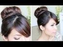 Sock Bun Braid Updo Hairstyle for Medium Long Hair Tutorial