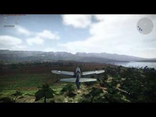 Політ на Японському самольоту War Thunder