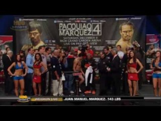 Manny Pacquiao vs Juan Manuel Marquez 4 Official Weigh In