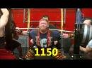 Приседы от Генри Томпсона вес указан в фунтах XPC Powerlifting Squat Training 021013 BAG - 3 weeks out