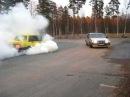 Volvo 740 drift och burn