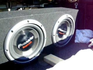 2 12 Pioneer Subwoofers TS-W308D4 Bass, I Love You--Hifonics BXI1610D Amplifier