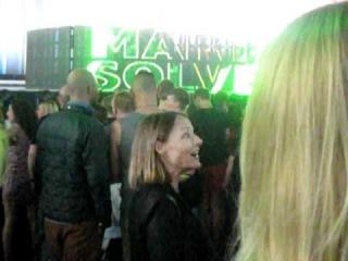 Jodie Foster at the Madonna show in Copenhagen 2/7/2012