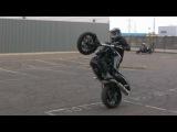 paul todd BMW f800r stunt practice