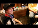 Justin Bieber talking about Justbeats headphones in the studio with Dr. Dre f/ Pray