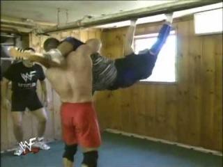 Ken Shamrock vs. Owen Hart Dungeon Match