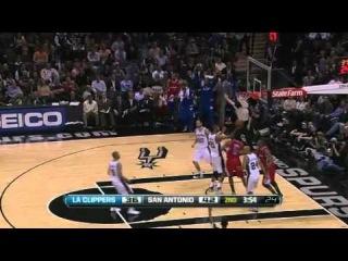 Лучшие моменты матча. Clippers vs. Spurs. Тони Паркер vs Крис Пол, Блейк Гриффин и ДеАндре Джордан vs Тим Данкан. К сожалению, борьбы не получилось.