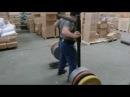 Patrik Baboumian does yoke 455kg