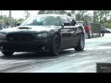 Tuned Nissan GT-R vs Supercharged Charger SRT 8 w_ 6.4 Liter Hemi - Drag Race Video