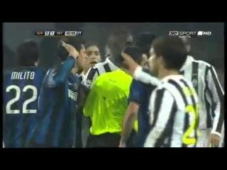 Juventus Inter 2-1, Милито, Баллотели, Тьяго Мотта, Буфон и т.д.