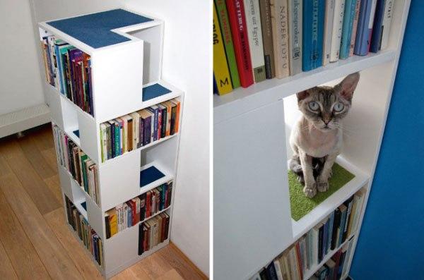 CatCase – шкаф для книг и котов