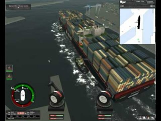 Ship Simulator Extremes Towing container ship Vermaas Alongside.avi