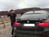 Сын мэра Харькова похвастался своим BMW X6 с мигалками