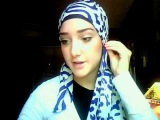 Hijab Tutorial #6 (Blue Zibra Wrap)