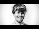 Portrait Drawing with Graphite - Timelapse