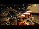 Guru Drumworks prototype free floating stave kit.  No close mic's or EQ
