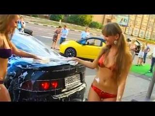 Эротическая мойка машин!