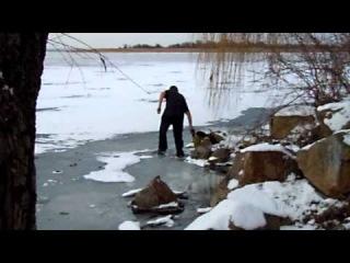 Лазырь и Дутый чудят на льду. - часть 1.