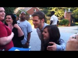 Joseph Morgan greeting fans on set of TVD