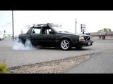 Volvo 744 burnout