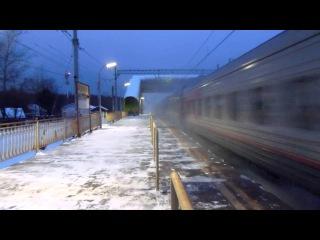 Электровоз ЧС2Т-1028 с поездом №381А (Мурманск → Москва)