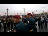 9 мая 2012. Парадный расчёт 2 полка ОДОН в Краповом берете. После парада