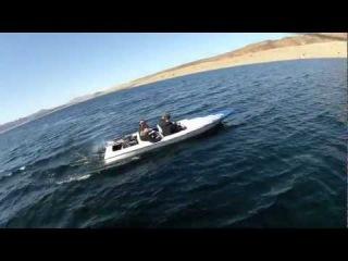 Alan Szabo Jr. and Danny Szabo Trex 550E at the Lake GoPro Jet Boat Video 3/3/12