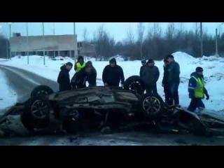 Авария на Колмовском мосту 17.02.2013 г. В. Новгород