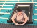 монтаж мансардного окна FAKRO на профнастил flv