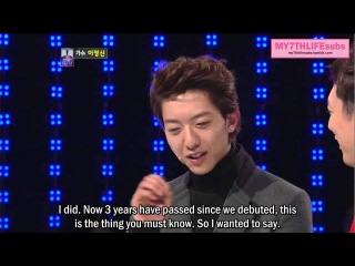 [ENG SUB] 121225 ⓵ vs ⓵⓪⓪ Lee Jung Shin - Talk cuts