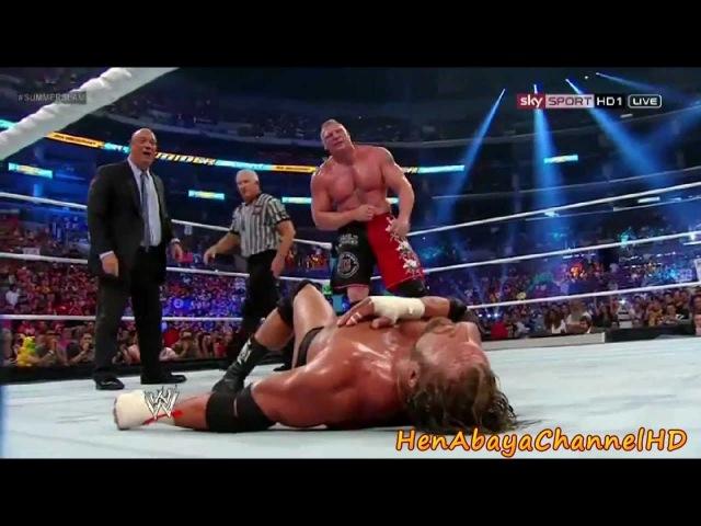 Triple H Vs. Brock Lesnar Highlights - HD Summerslam 2012