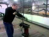 Зачаливание троса (плетение троса).3gp