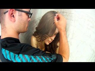como pintar cabello con oleo Omar Ortiz Pintando la Obra Memorias de vuelo