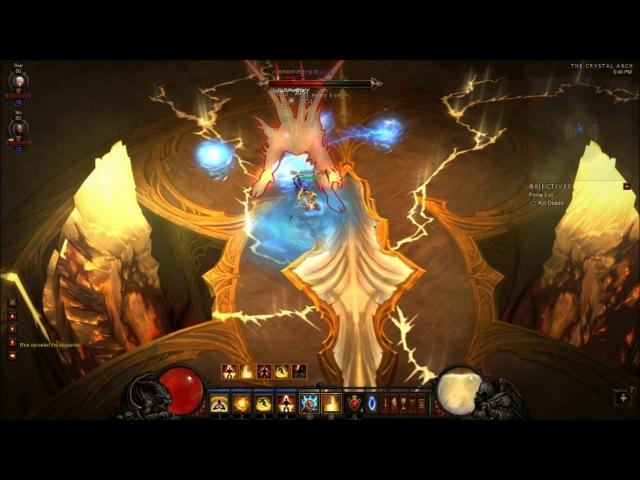 Inferno Diablo stunlocked by 2 Monks