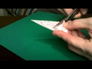 Мастер-класс: Делаем снежинку из бумаги
