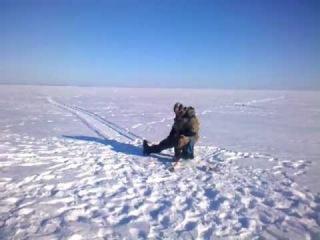 Зимняя рыбалка на Волге (Куйбышевское водохранилище)