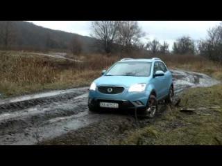 Off-road test-drive SsangYong Korando STD-1. December 2011, Ukraine, Kharkov.mp4
