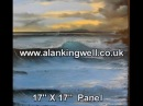 Looe Island Sunset Cornwall an oil painting demonstration by Alan Kingwell