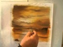 Stormy Sunset , PART ONE and TWO of an oil painting demonstration by Alan Kingwell