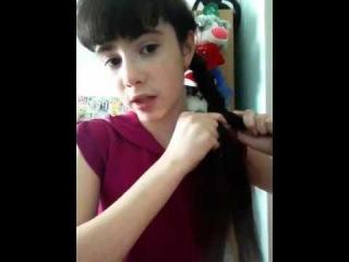 Плетение косы/ косичка из 5-ти прядей(эффект 3д)