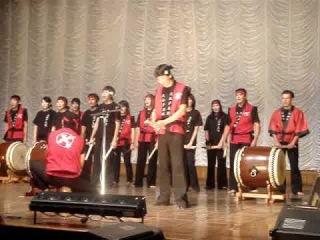 Taiko club in Kyrgyz Republic - Japanese drums - Kyrgyz band