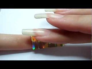 Как работать с фольгой для ногтей