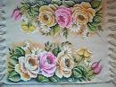 Pintura em tecido Rosas parte 3 (Final)
