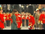 Duchess of Cambridge presents St Pat's Day shamrocks