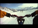 Allalinrace. Дайнхил на велосипеде зимой, курорт Зас-Фе (Швейцария)