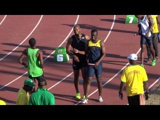 MVP WINS MEN'S 4 X 100M (ASAFA POWELL ANCHORS) - MILO WESTERN RELAYS JAMAICA 2013