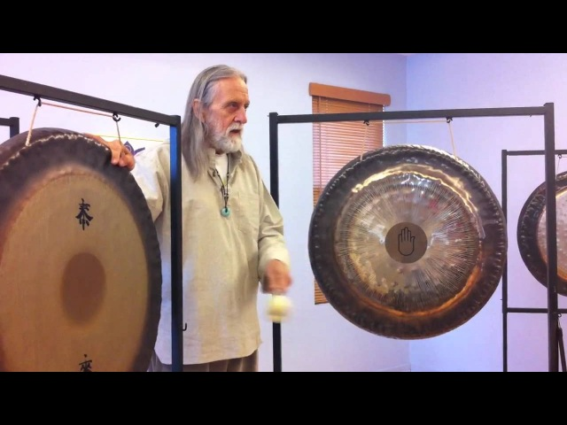 Gongs stroke by Master Don Conreaux at Integral Yoga New York